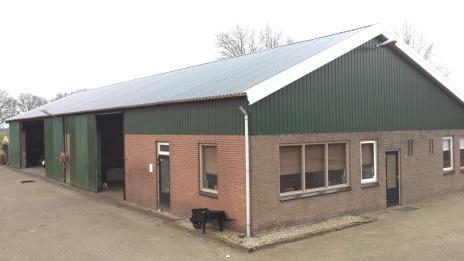 dakpanelen op bestaande schuur