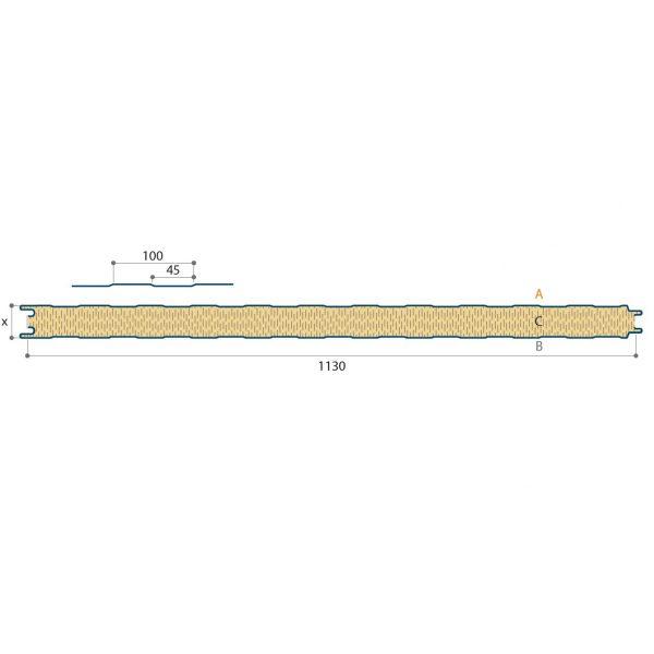 steenwolpaneel wand zichtbare bevestiging