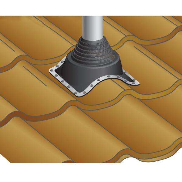 dakdoorvoer op dakpanplaat