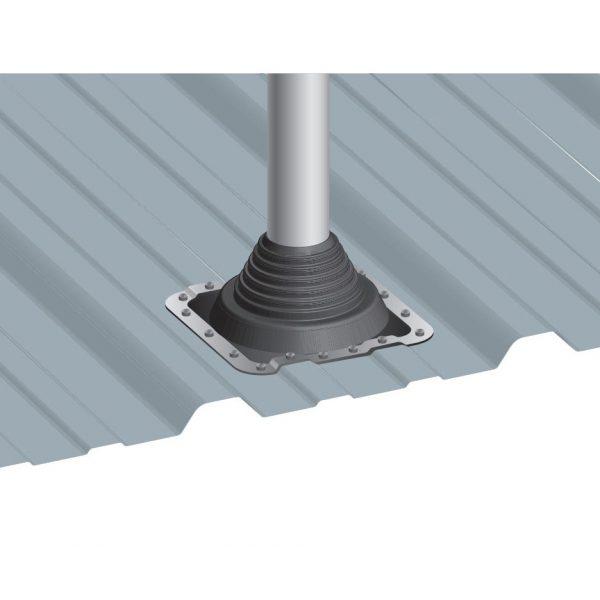dakdoorvoer op damwandprofiel