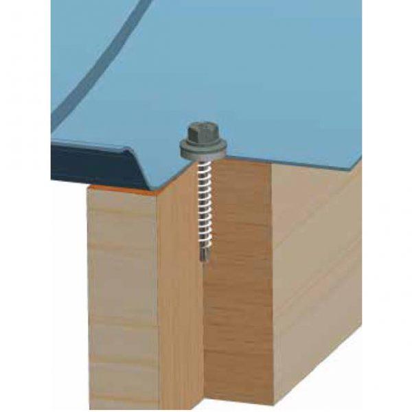 dakpanschroef op hout